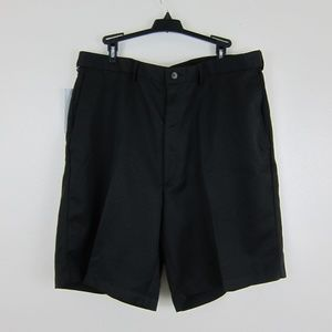 Haggar Men's Dress Shorts 38W Black Flat Front New